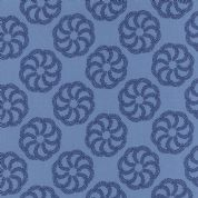 Moda Aria by Kate Spain - 4554 - Fern on Blue, Floral Tone on Tone  - 27232 16 - Cotton Fabric